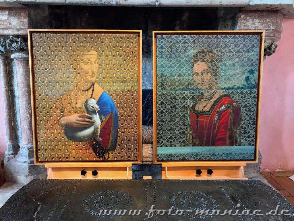 Zwei Frauenporträts