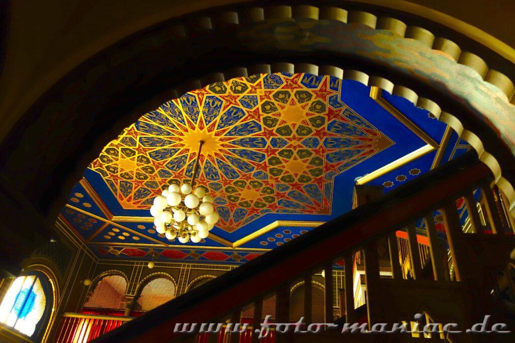 Decke mit Sternen im prächtigen Stadtbad Leipzig