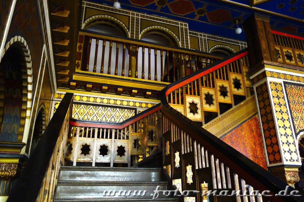Treppenaufgang im orientalischen Bereich im farbenprächtigen Stadtbad Leipzig