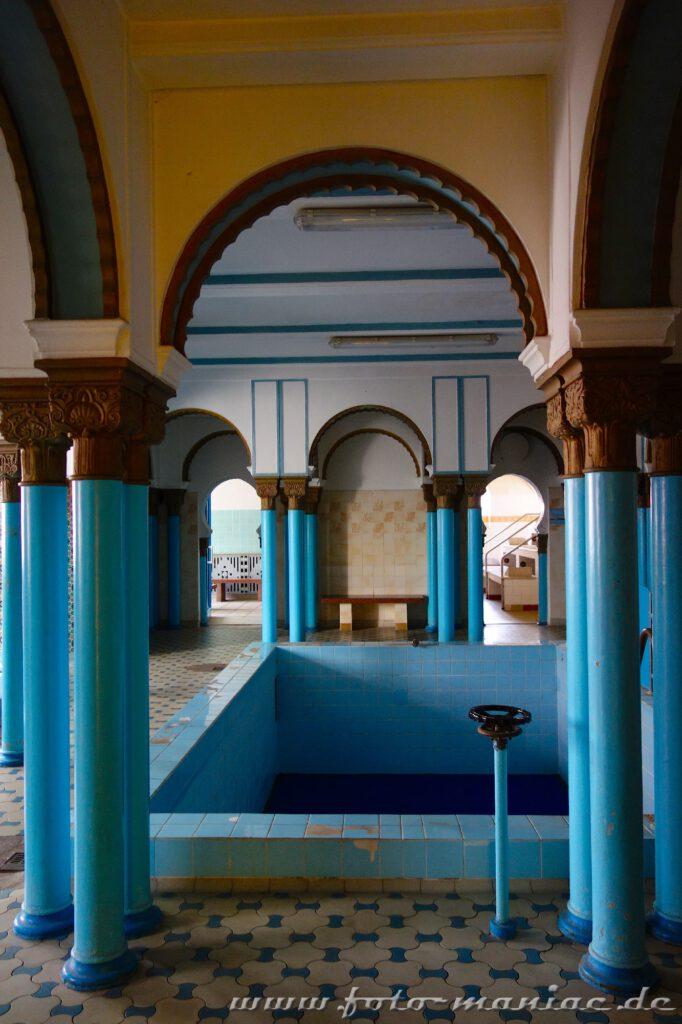 Orientalischer Saunabereich im farbenprächtigen Stadtbad Leipzig