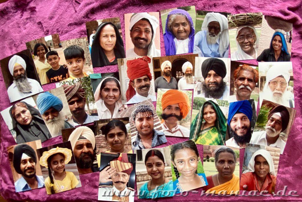 Portraits während einer Bustour durch Indien fotografiert