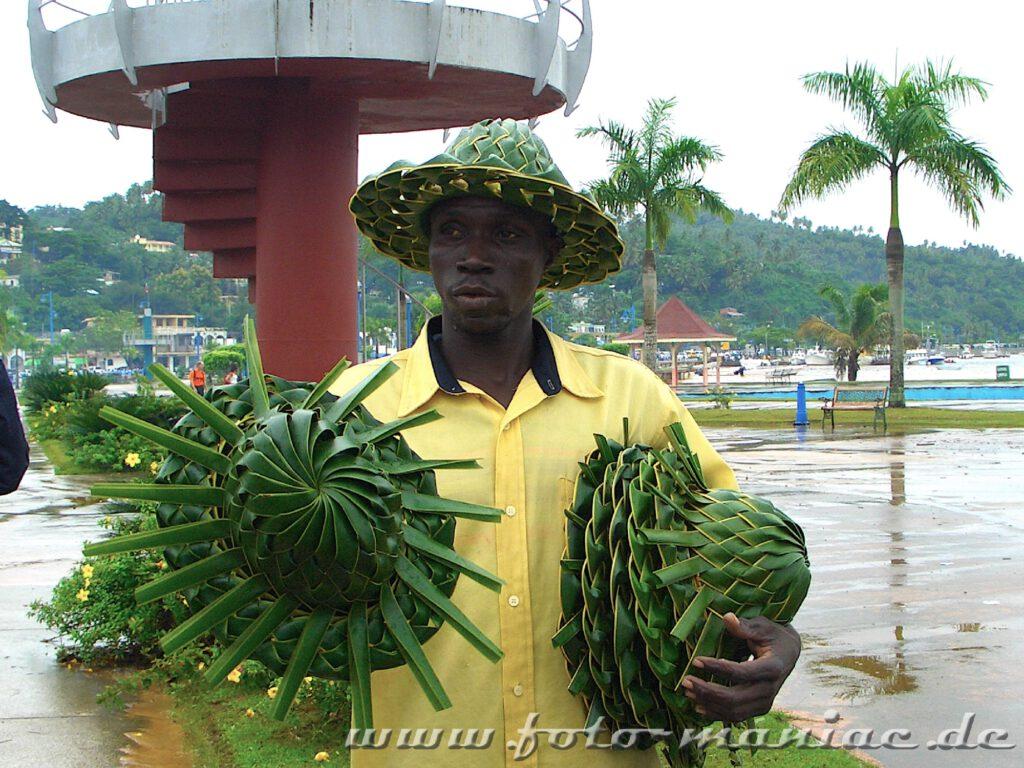 Ein Hutverkäufer
