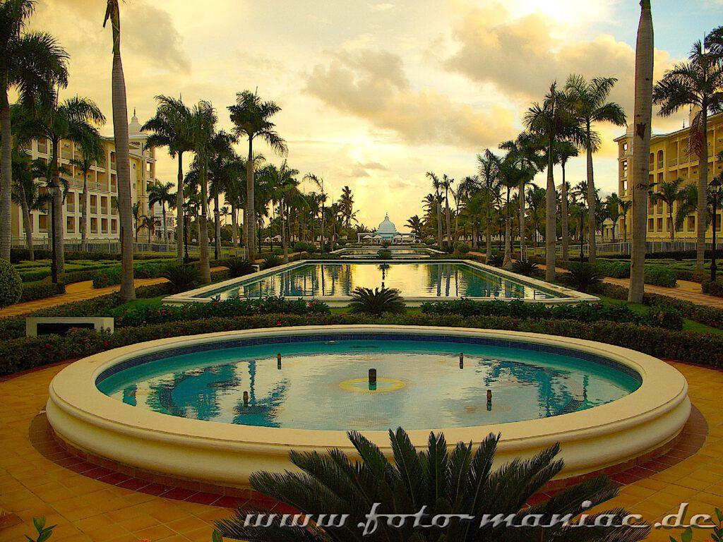 Abends in einem Ferienresort in Punta Cana