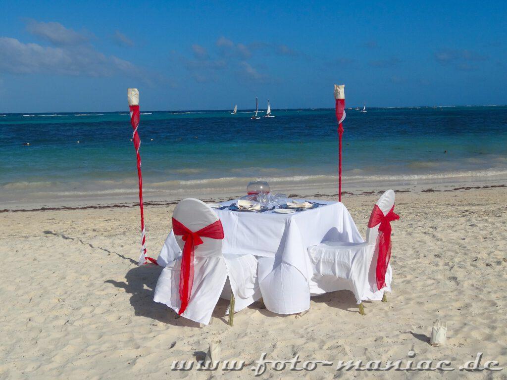 Dinner im Paradies in der Karibik