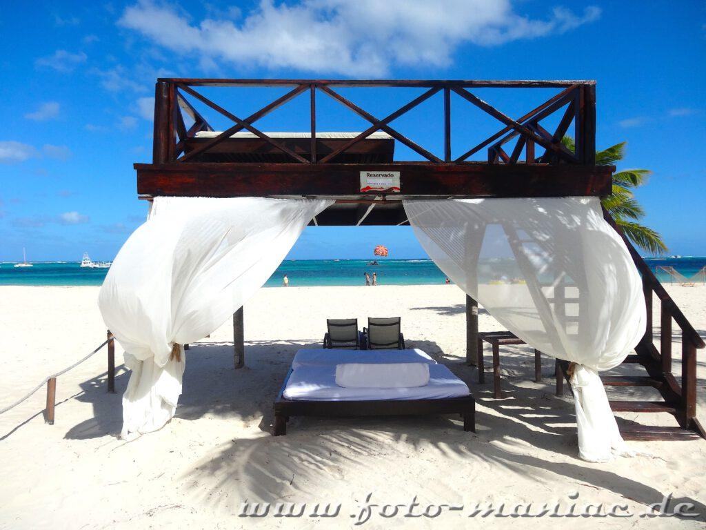 Strandbett in Punta Cana