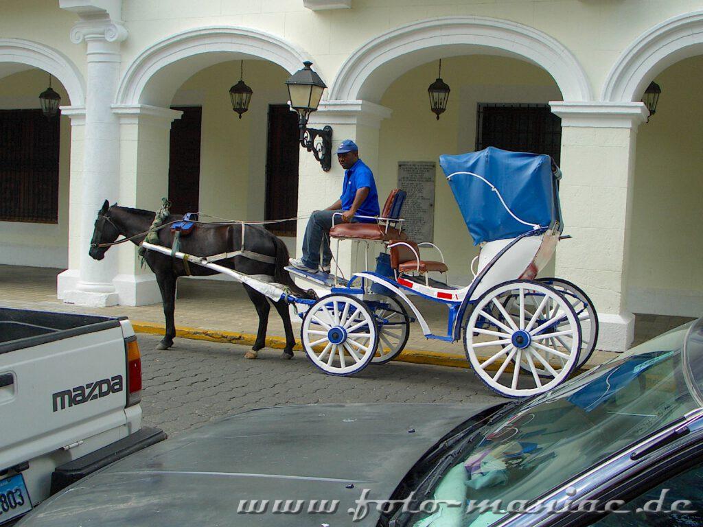 Ein Kutscher wartet auf Touristen