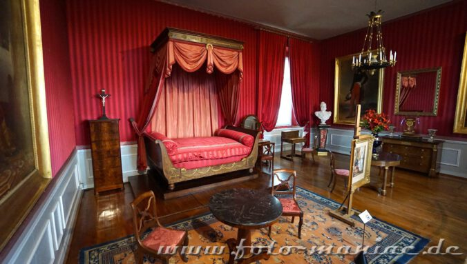 Blick in ein Gemach im Schloss Amboise