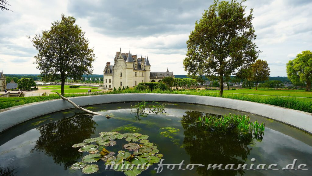 Schloss Amboise mit Wasserbecken