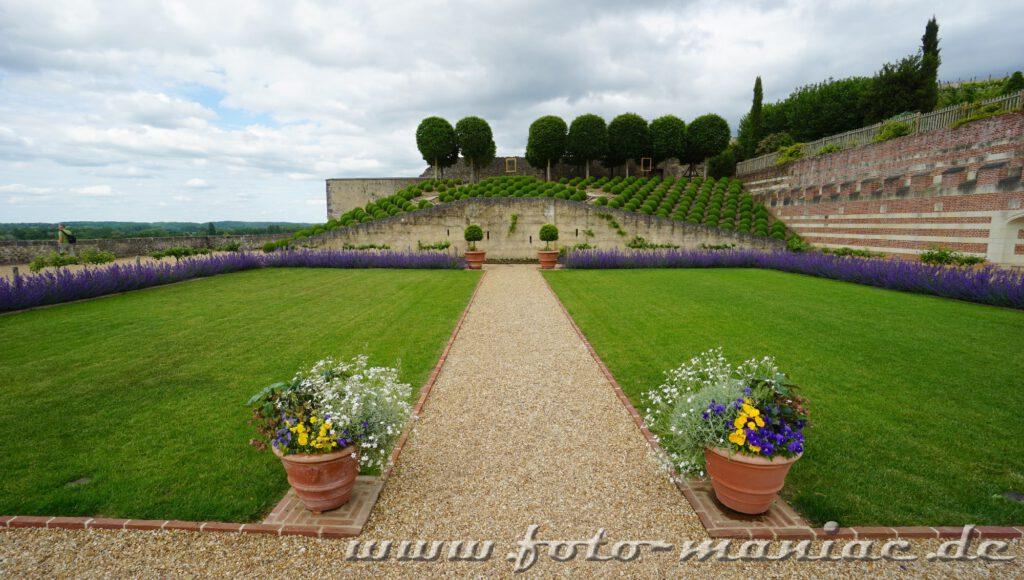 Der schöne Garten von Schloss Amboise