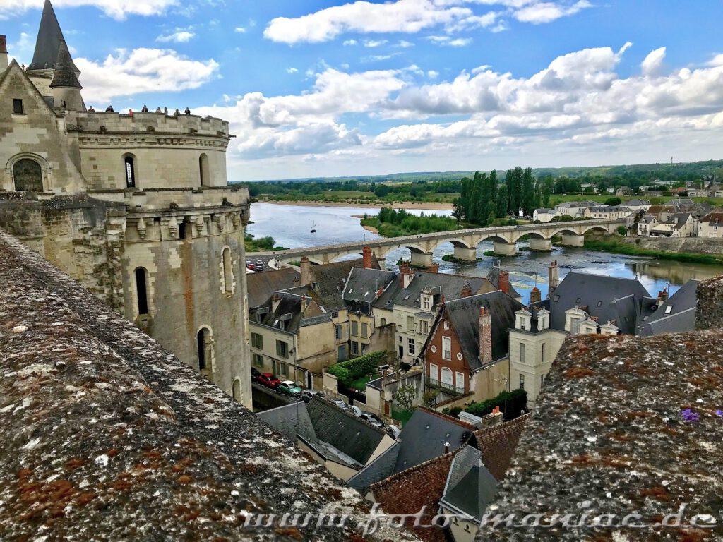 Blick auf die Loire und die Stadt