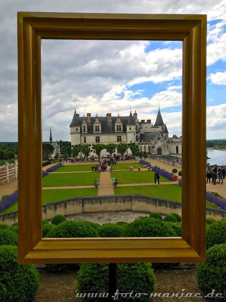 Besuch im Schloss Amboise - ein schöner Rahmen fürs Foto