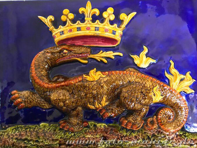 Der Salamander als Wappentier französischer Könige