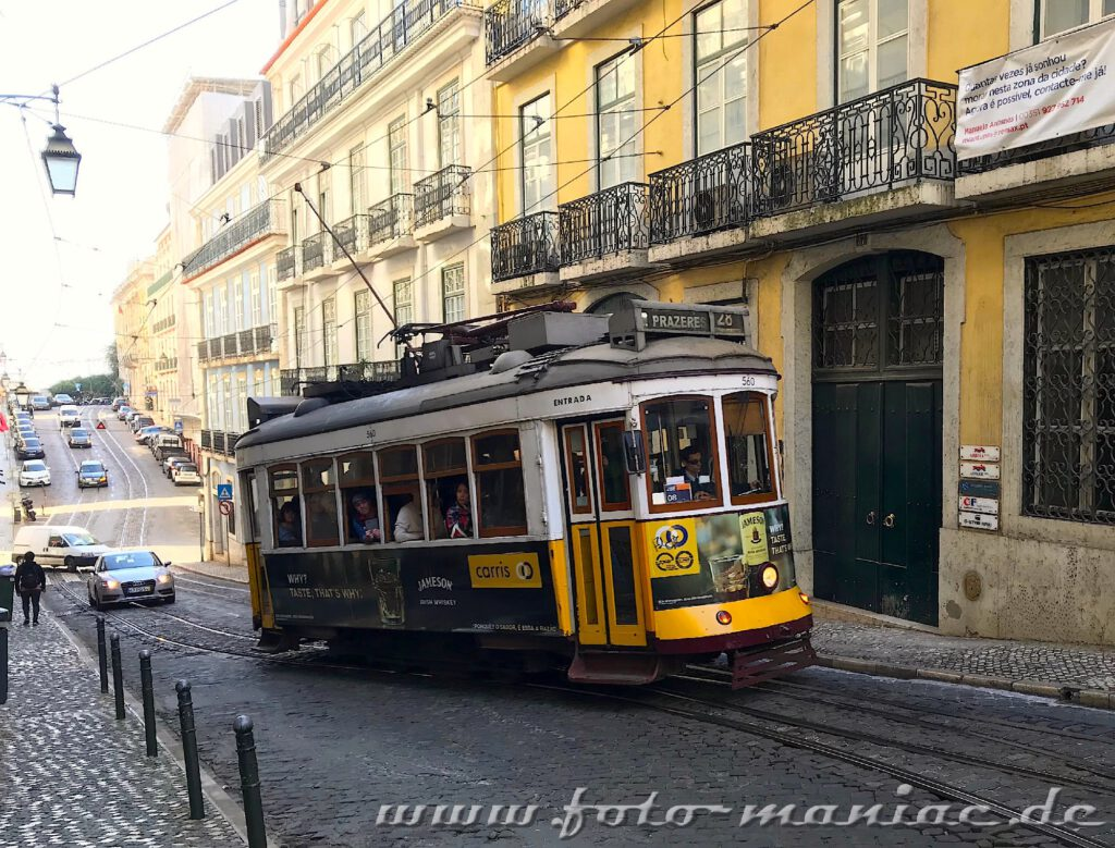 Sehenswert in Lissabon - die Straßenbahnen