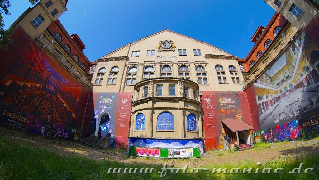 Das prächtige Stadtbad Leipzig - der Haupteingang