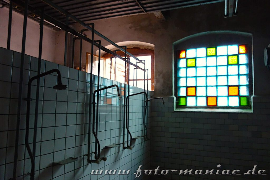 Das verlassene RAW in Halle - ein Duschraum