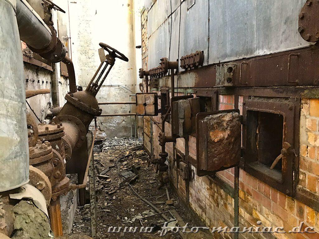 Das verlassene RAW in Halle - die Öfen des Heizhauses sind schon lange erkaltet