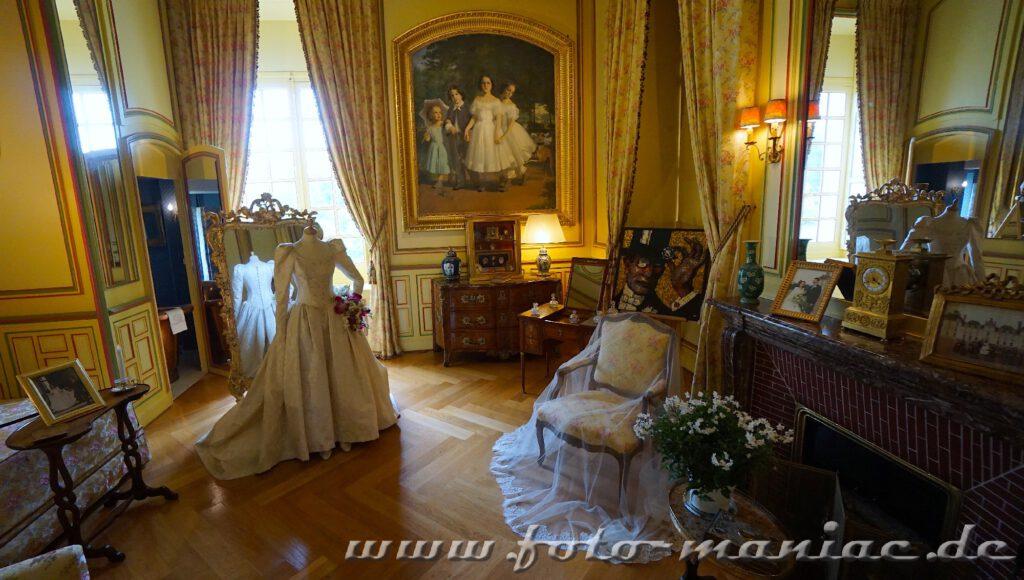 Das Zimmer für die Dame des Hauses im reizvollen Chateau Cheverny