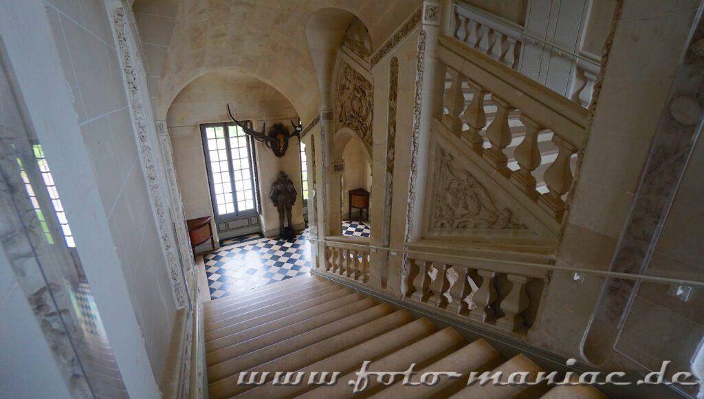 Das reizvolle Chateau Gheverny mit seiner Ehrentreppe