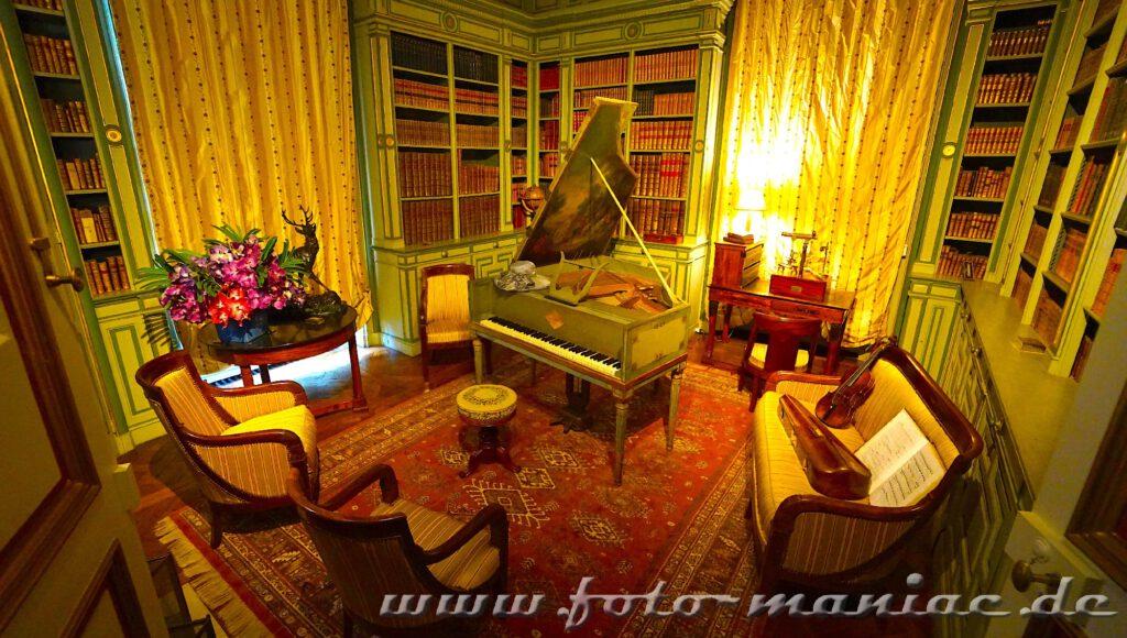 Das reizvolle Chateau Cheverny mit Musikzimmer