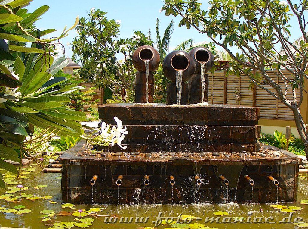 Ein Brunnen im Spa-Bereich
